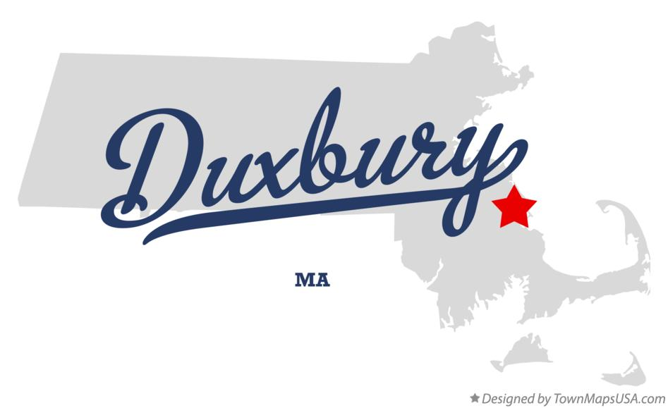Map of Duxbury Massachusetts MA