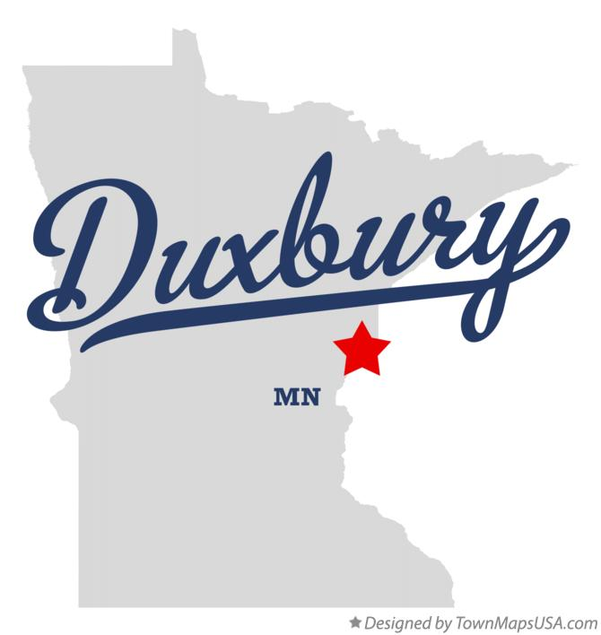 Map of Duxbury Minnesota MN