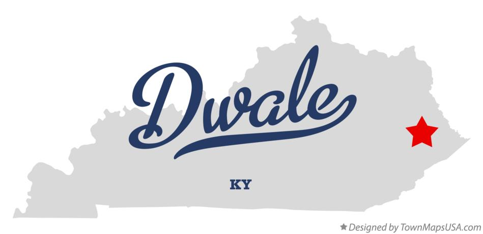 Map of Dwale Kentucky KY