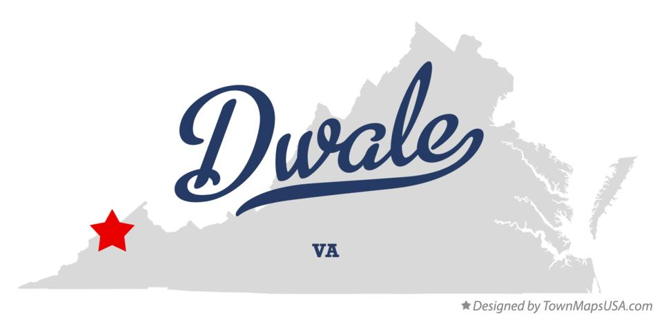 Map of Dwale Virginia VA