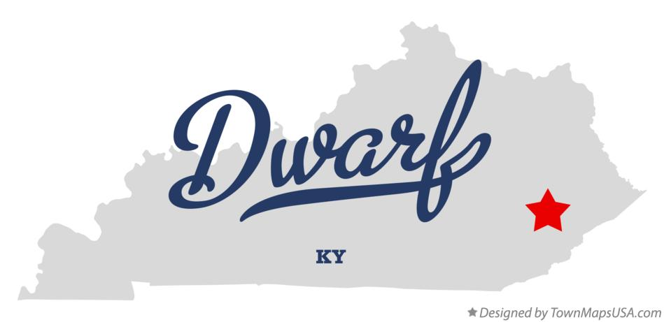 Map of Dwarf Kentucky KY