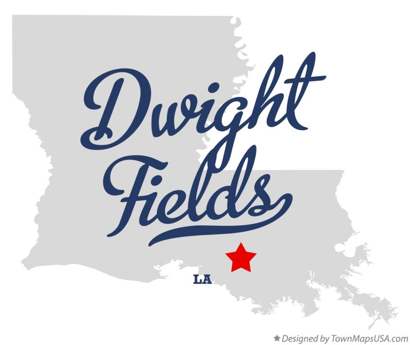 Map of Dwight Fields Louisiana LA