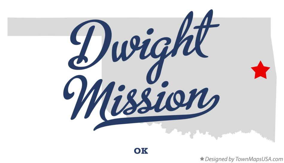 Map of Dwight Mission Oklahoma OK