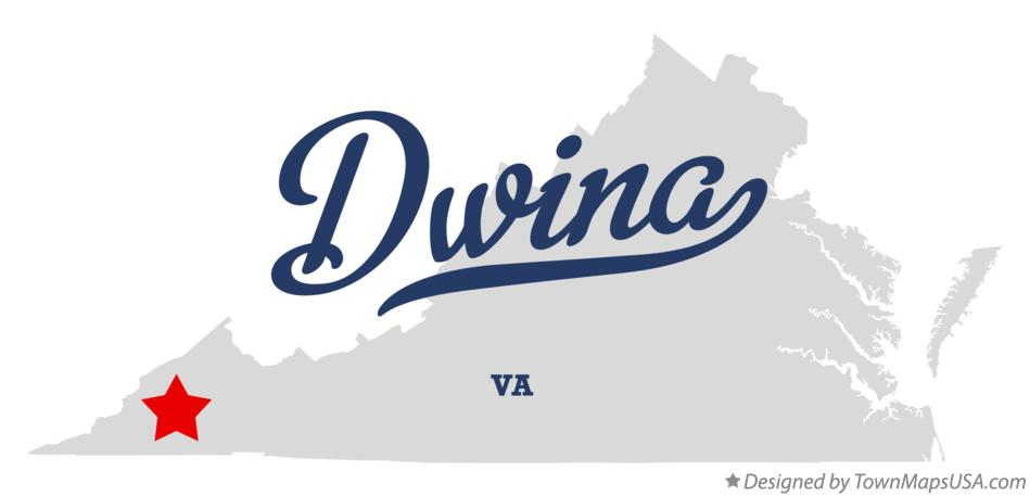 Map of Dwina Virginia VA