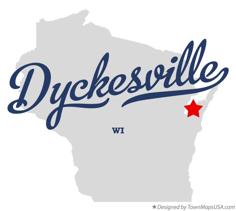 Map of Dyckesville Wisconsin WI