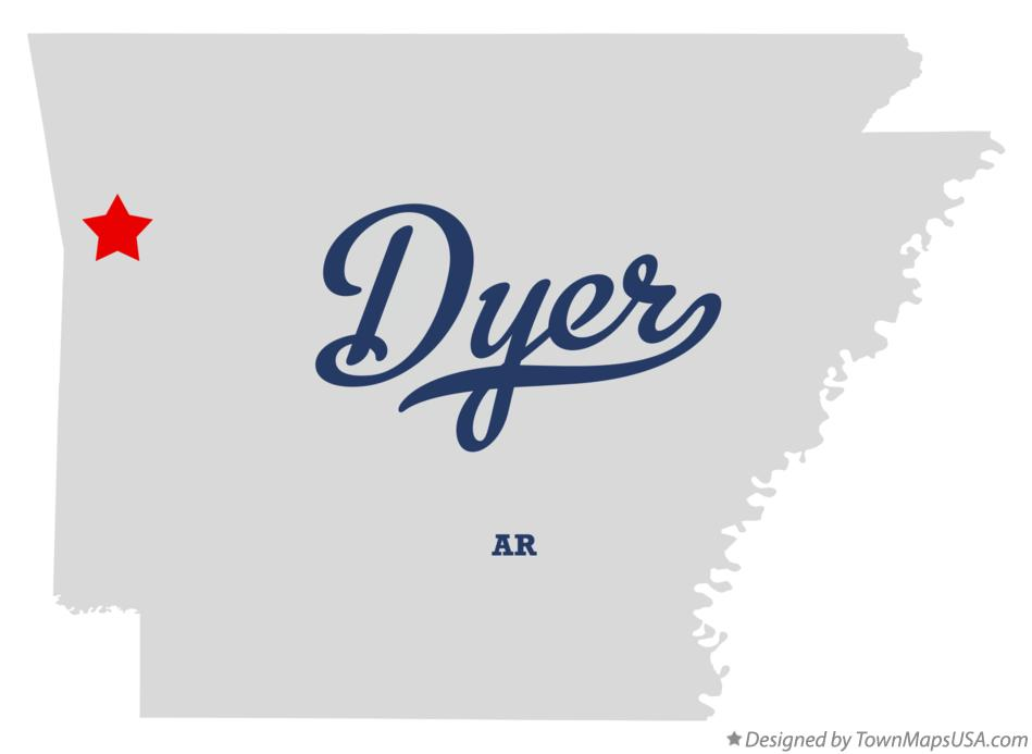 Map of Dyer Arkansas AR