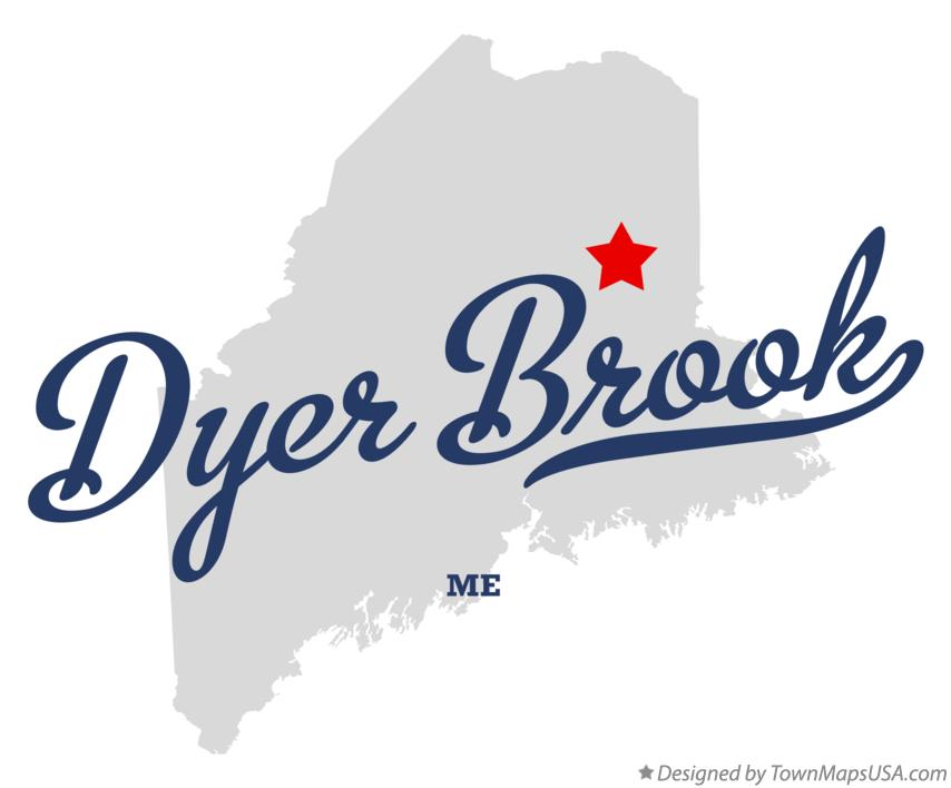 Map of Dyer Brook Maine ME