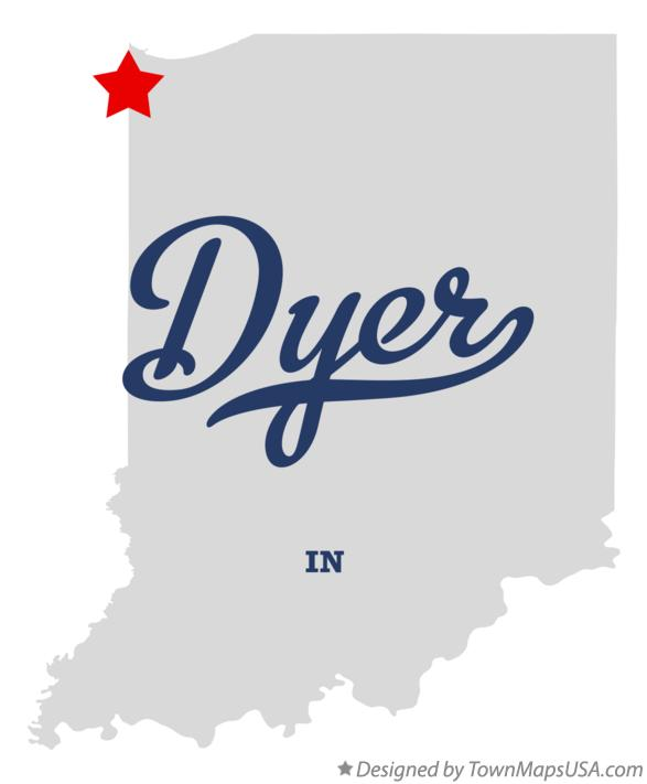 Map of Dyer Indiana IN