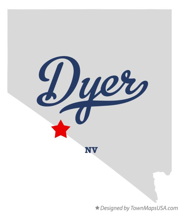 Map of Dyer Nevada NV
