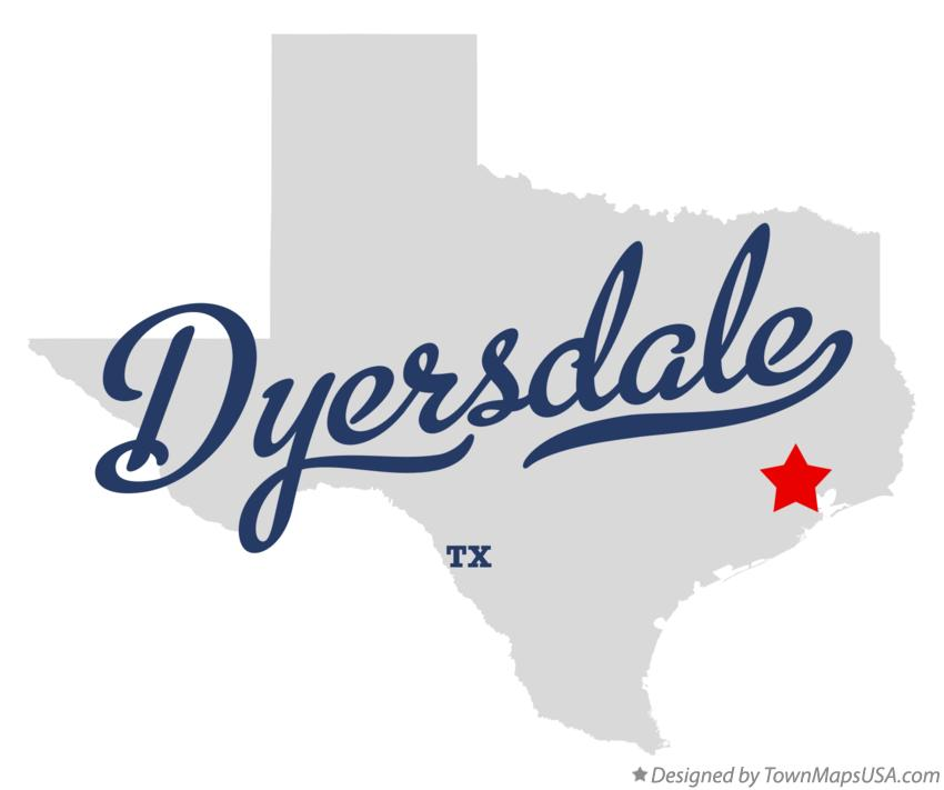 Map of Dyersdale Texas TX