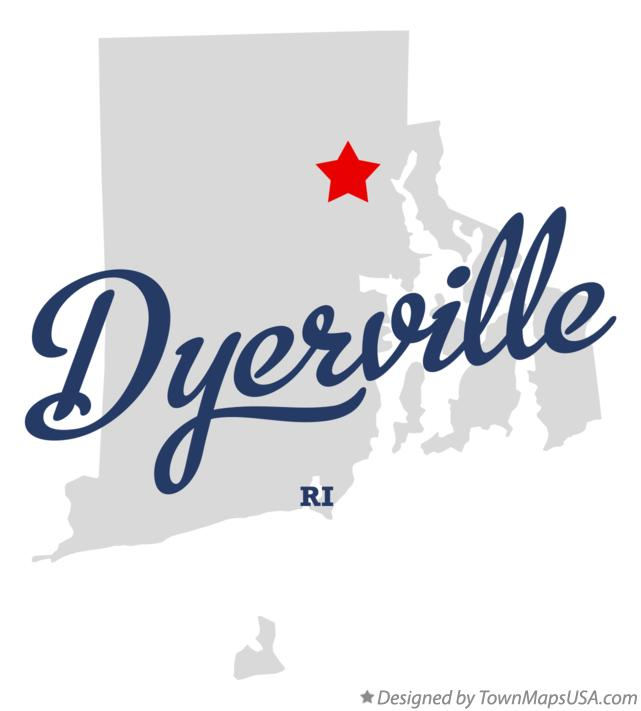Map of Dyerville Rhode Island RI