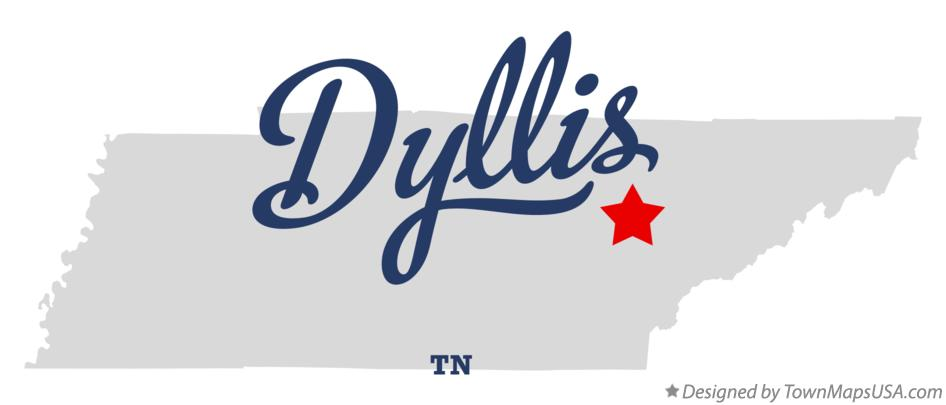 Map of Dyllis Tennessee TN