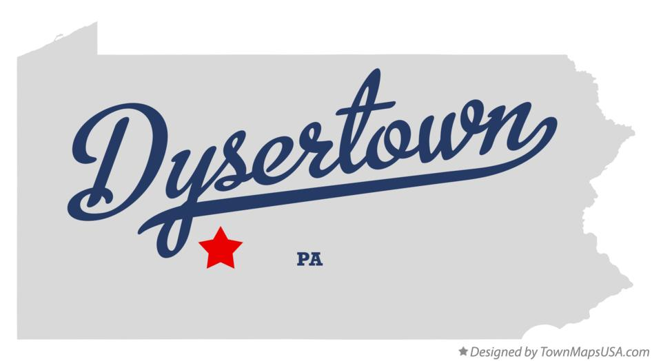 Map of Dysertown Pennsylvania PA