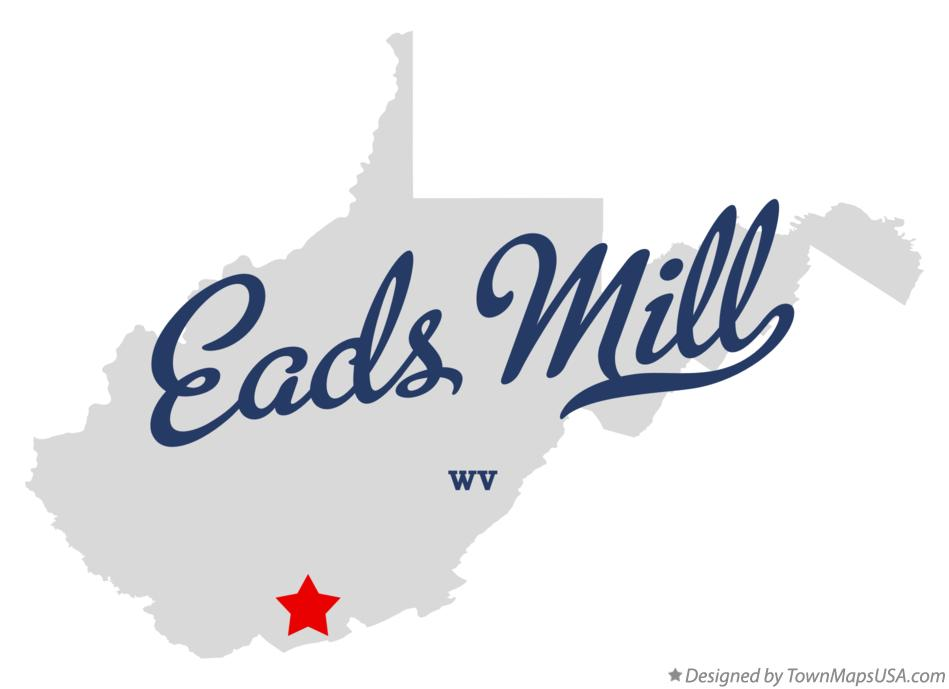 Map of Eads Mill West Virginia WV