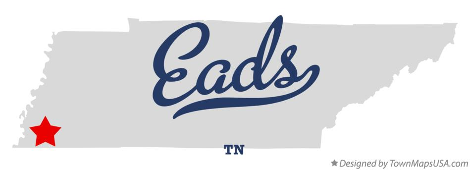 Map of Eads Tennessee TN