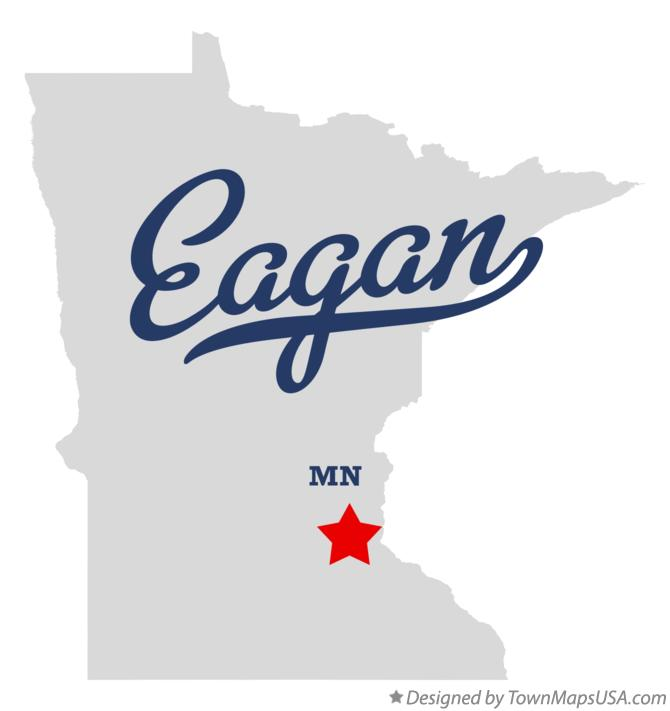 Map of Eagan Minnesota MN