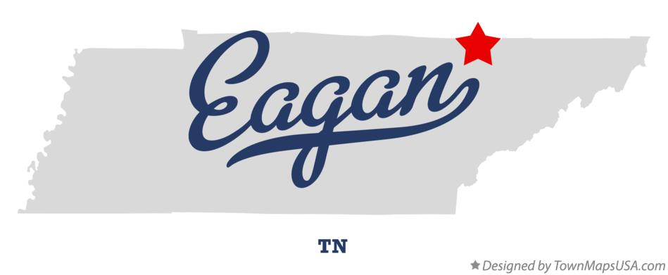 Map of Eagan Tennessee TN