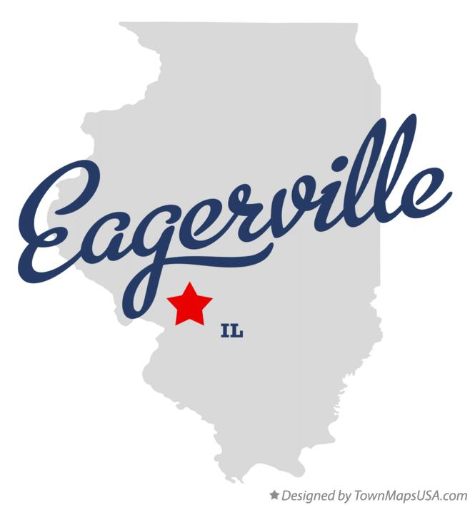 Map of Eagerville Illinois IL