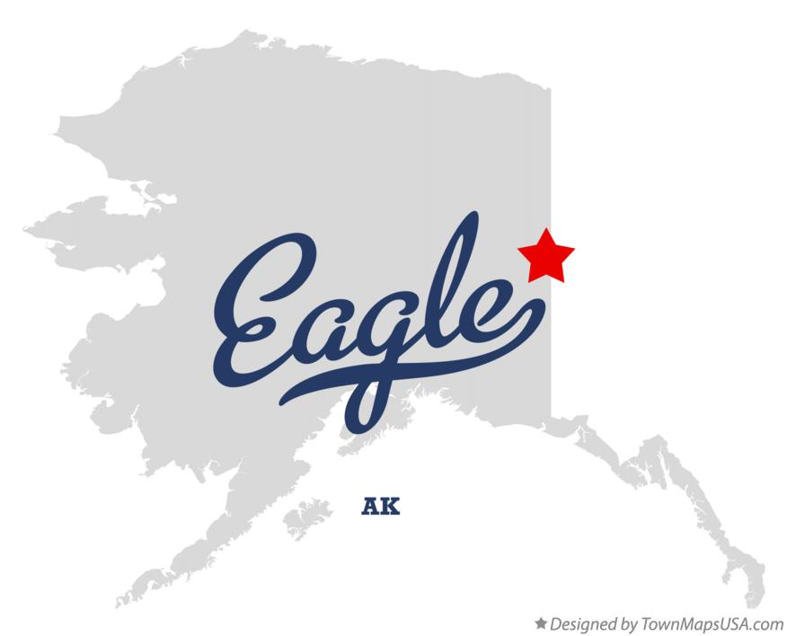 Map of Eagle Alaska AK