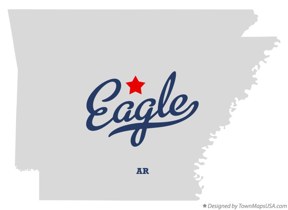 Map of Eagle Arkansas AR