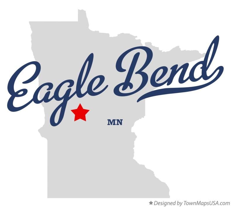 Map of Eagle Bend Minnesota MN
