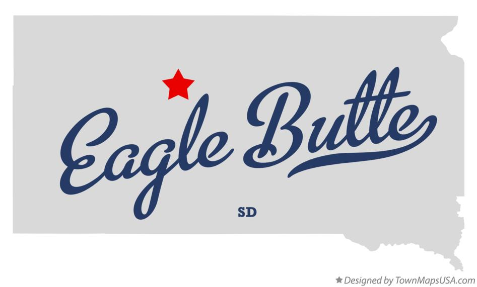 Map of Eagle Butte South Dakota SD