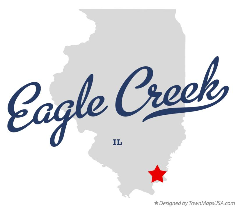Map of Eagle Creek Illinois IL