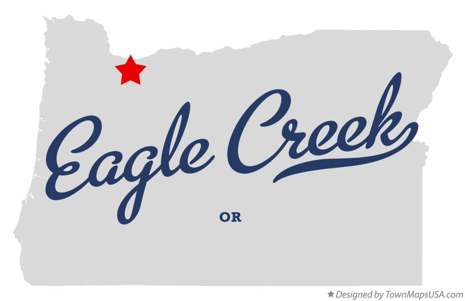 Map of Eagle Creek Oregon OR