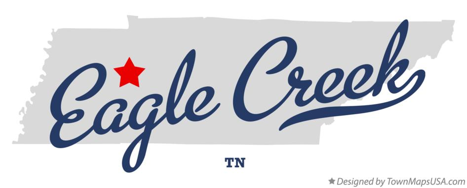 Map of Eagle Creek Tennessee TN