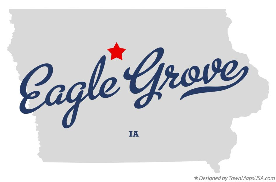Map of Eagle Grove Iowa IA