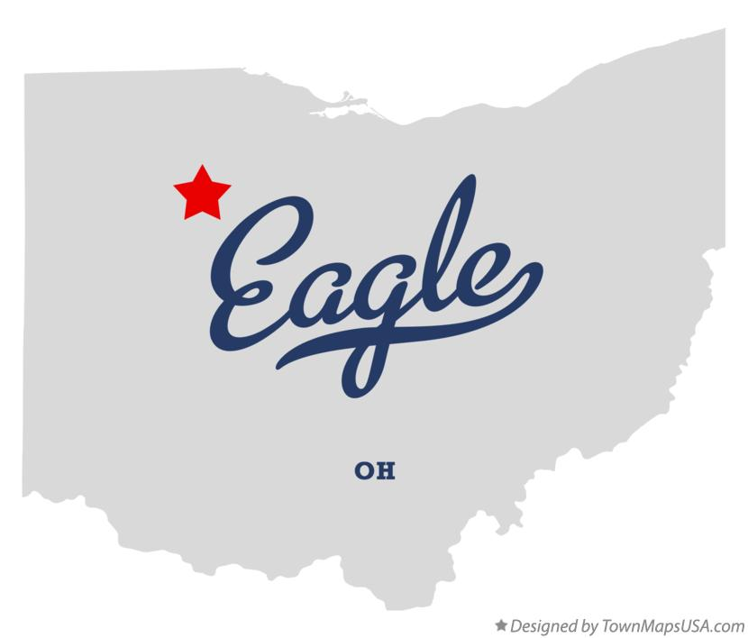 Map of Eagle Ohio OH