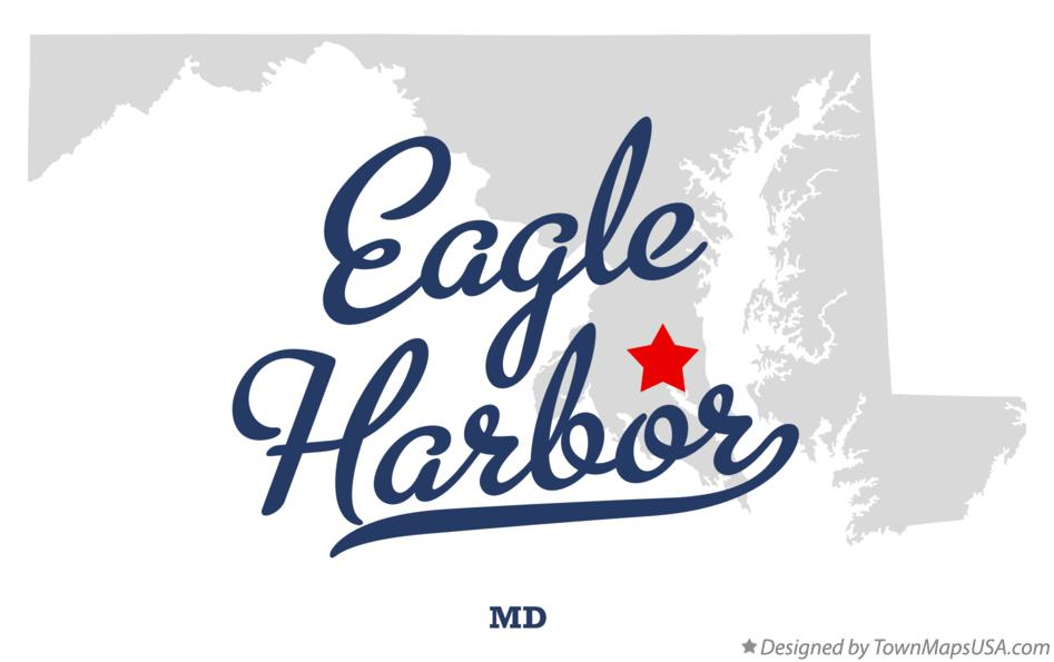 Map of Eagle Harbor Maryland MD