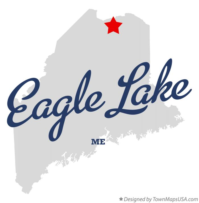 Map of Eagle Lake Maine ME