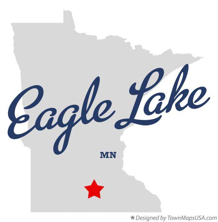 Map of Eagle Lake Minnesota MN