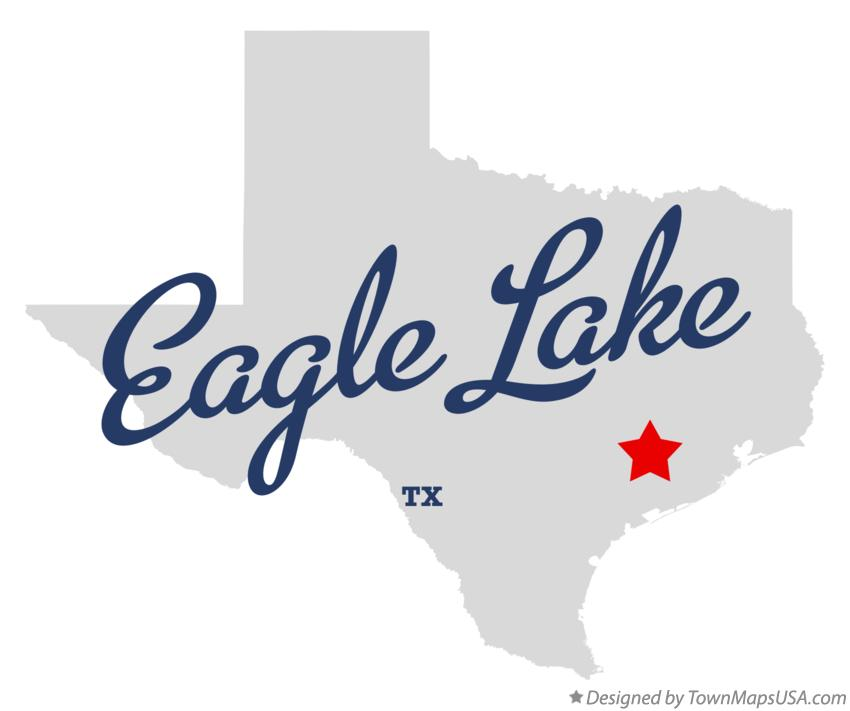 Map of Eagle Lake Texas TX