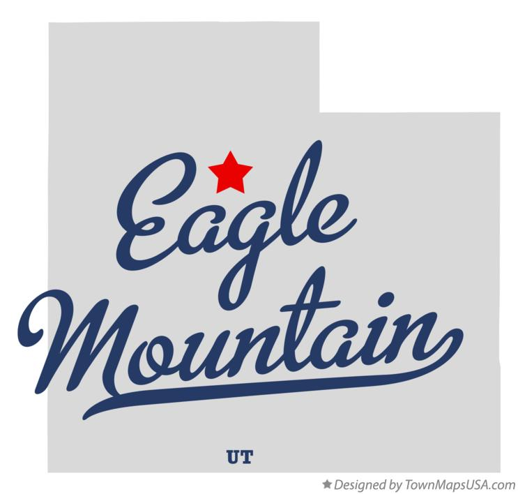 Map of Eagle Mountain Utah UT