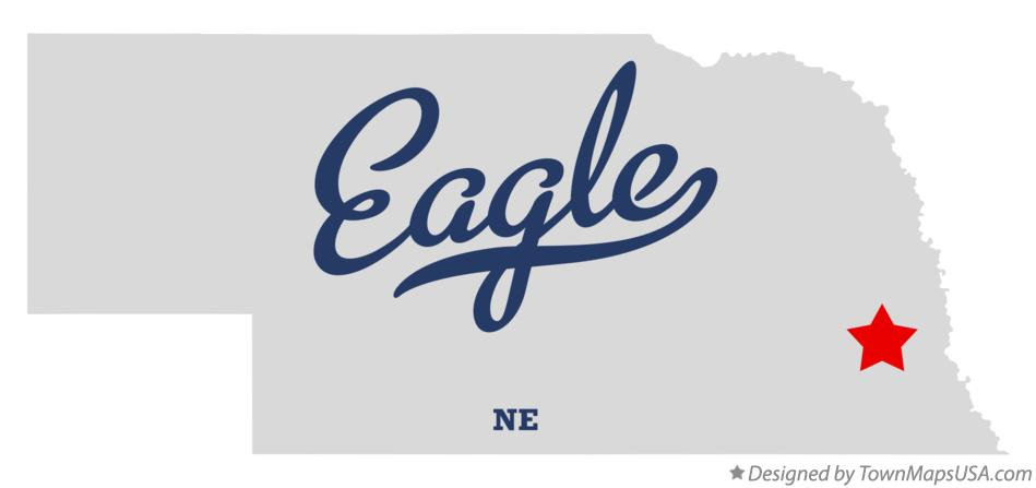 Map of Eagle Nebraska NE
