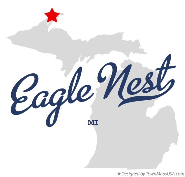 Map of Eagle Nest Michigan MI