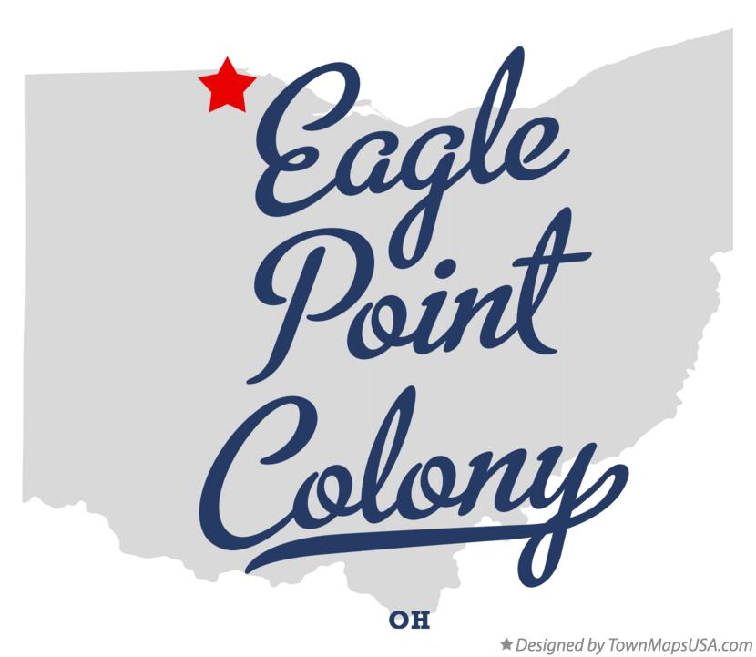 Map of Eagle Point Colony Ohio OH