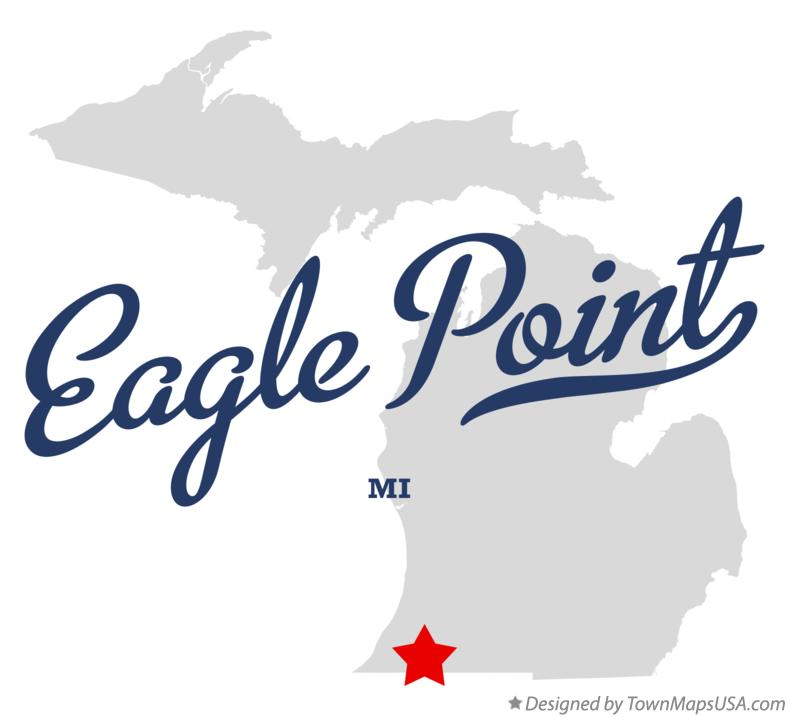 Map of Eagle Point Michigan MI