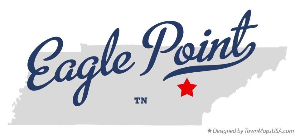 Map of Eagle Point Tennessee TN