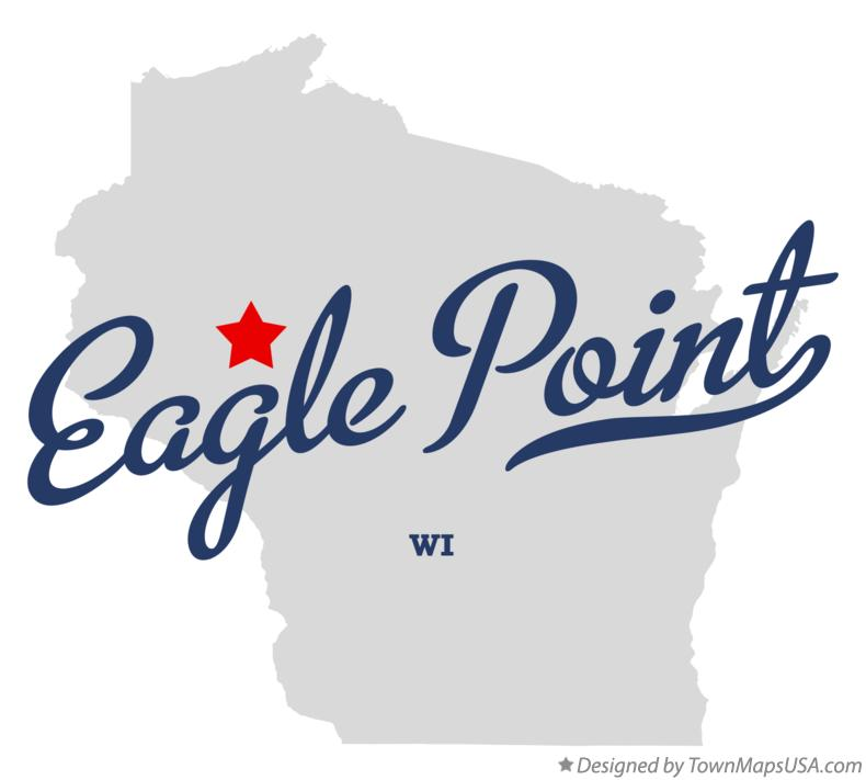 Map of Eagle Point Wisconsin WI
