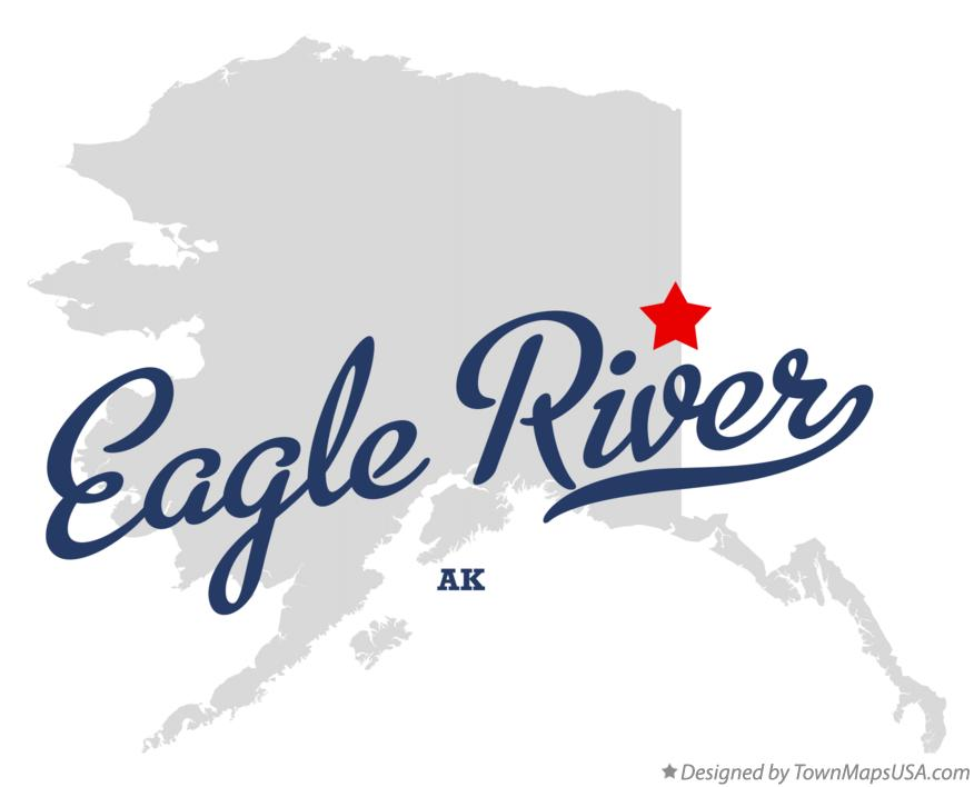 Map of Eagle River Alaska AK