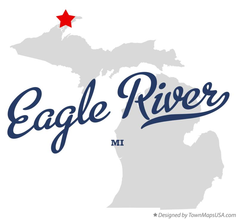 Map of Eagle River Michigan MI