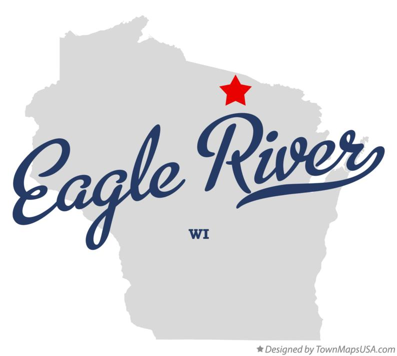 Map of Eagle River Wisconsin WI