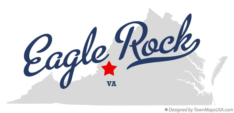 Map of Eagle Rock Virginia VA