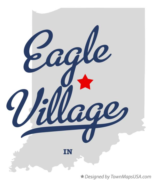 Map of Eagle Village Indiana IN