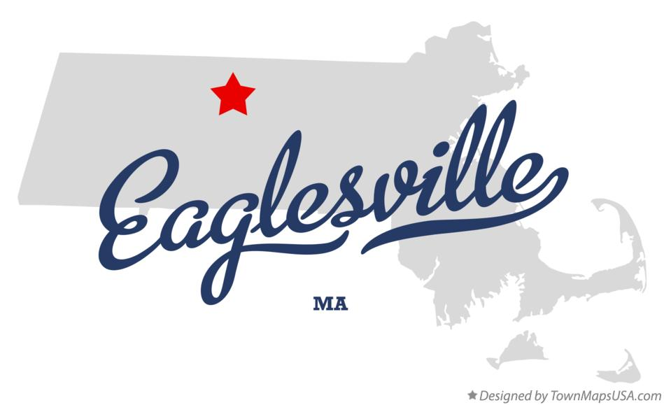Map of Eaglesville Massachusetts MA