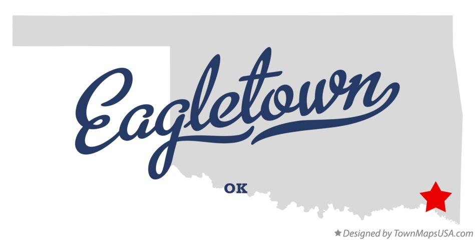 Map of Eagletown Oklahoma OK
