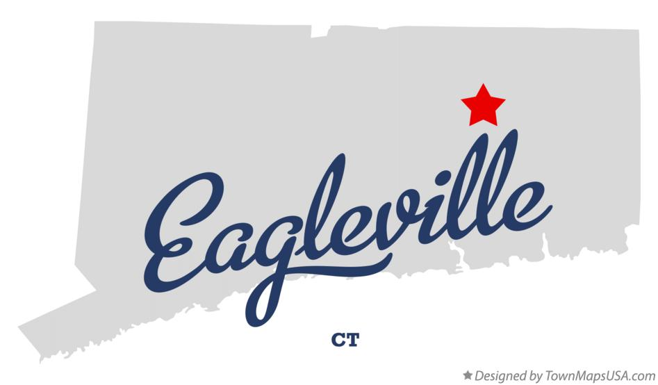 Map of Eagleville Connecticut CT